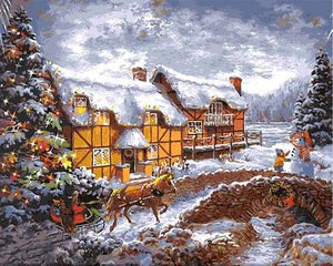 paint by numbers | Farm in Winter | advanced landscapes new arrivals | FiguredArt