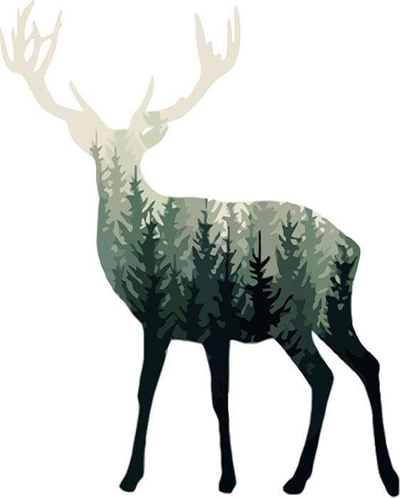 paint by numbers | Forest Deer | animals deer easy | FiguredArt