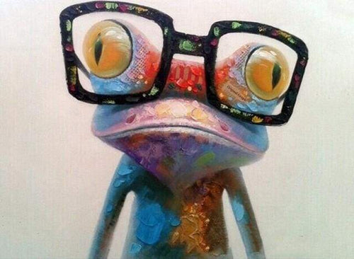 paint by numbers | Frog and Eyewear | animals easy frogs | FiguredArt