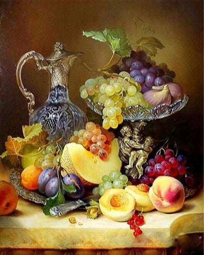 paint by numbers | Fruits | flowers intermediate | FiguredArt