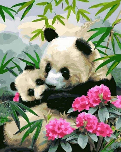 paint by numbers | Giant pandas | animals easy pandas | FiguredArt