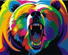 Load image into Gallery viewer, paint by numbers | Grizzly Bear Pop Art | animals bears easy new arrivals Pop Art | FiguredArt