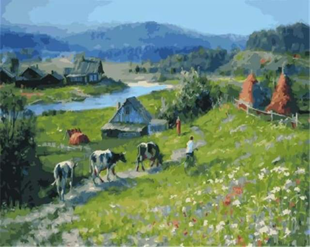 paint by numbers | Herd | advanced landscapes | FiguredArt