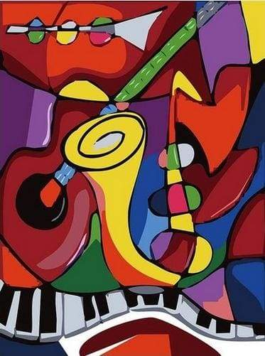 paint by numbers | Jazz Band | abstract easy | FiguredArt