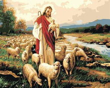 Load image into Gallery viewer, paint by numbers | Jesus Christ and his flock | intermediate religion | FiguredArt