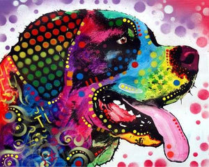 paint by numbers | Labrador Pop Art | advanced animals dogs Pop Art | FiguredArt