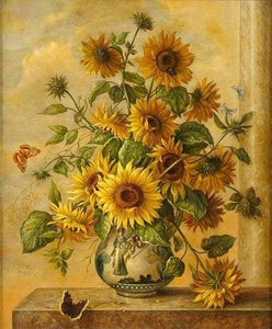 paint by numbers | Large Bouquet of Sunflowers | advanced flowers new arrivals | FiguredArt