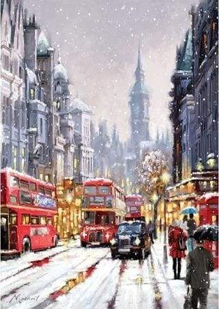 paint by numbers | London in the Snow | advanced cities | FiguredArt