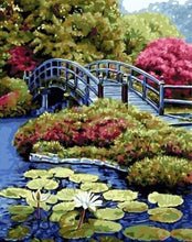 Load image into Gallery viewer, paint by numbers | Lotus Pond Nihonbashi | intermediate landscapes | FiguredArt