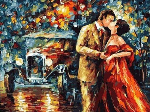 paint by numbers | Lovers and the Rain | advanced romance | FiguredArt