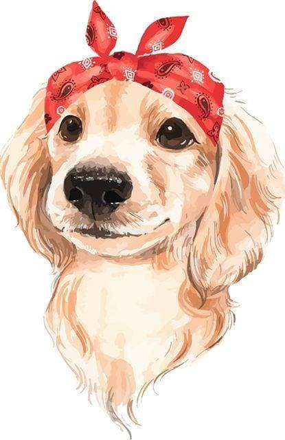 paint by numbers | My Cute Dog | animals dogs easy new arrivals | FiguredArt