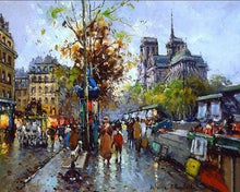 Load image into Gallery viewer, paint by numbers | Notre Dame de Paris and the Booksellers | advanced cities | FiguredArt