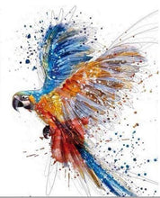 Load image into Gallery viewer, paint by numbers | Parrot in full Flight | advanced animals birds parrots | FiguredArt
