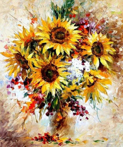 paint by numbers | Pretty Sunflowers | flowers intermediate | FiguredArt