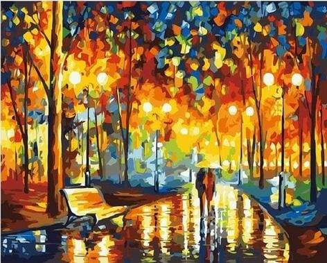paint by numbers | Rain at the Park | advanced cities famous paintings | FiguredArt
