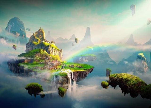 paint by numbers | Rainbow Mountains | advanced landscapes mountains world | FiguredArt