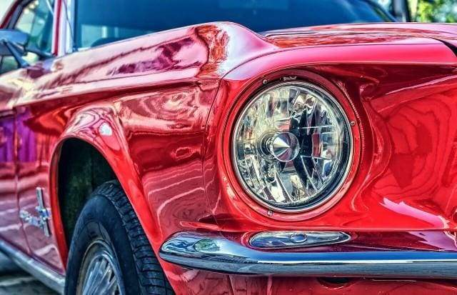 paint by numbers | Red Car Headlight | cars and motos intermediate | FiguredArt