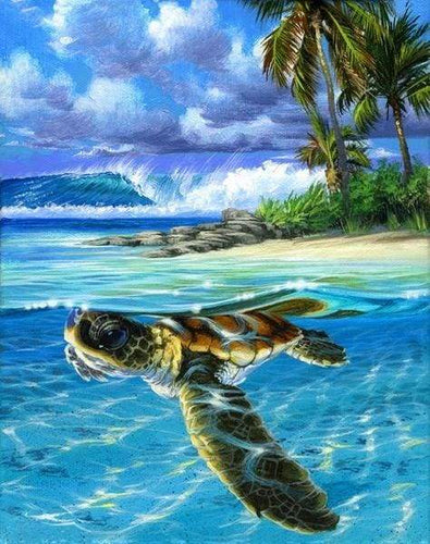 paint by numbers | Relaxing Turtle | advanced animals landscapes turtles | FiguredArt
