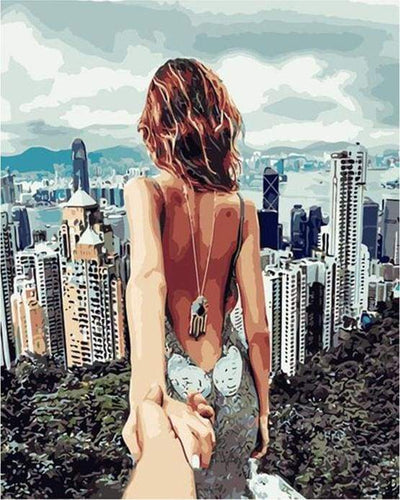 paint by numbers | Romantic Stroll Hills Hong Kong | cities intermediate romance | FiguredArt