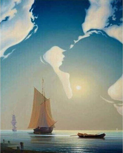paint by numbers | Sailboat and Romance | intermediate romance ships and boats | FiguredArt