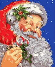 Load image into Gallery viewer, paint by numbers | Santa Claus wink | christmas easy new arrivals portrait | FiguredArt
