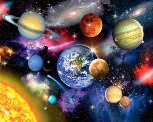 paint by numbers | Solar system | advanced landscapes | FiguredArt