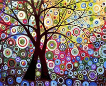 Load image into Gallery viewer, paint by numbers | Stained Glass Effect Tree | advanced trees | FiguredArt