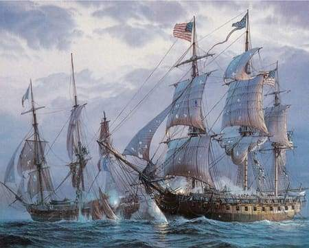 paint by numbers | The American Fleet | advanced new arrivals ships and boats | FiguredArt