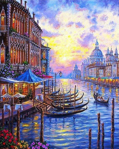 paint by numbers | The Grand Canal of Venice | advanced cities landscapes | FiguredArt