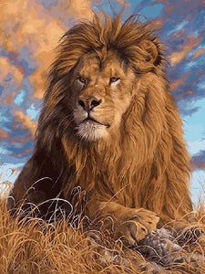 paint by numbers | The Lions Rest | advanced animals lions | FiguredArt