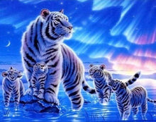 Load image into Gallery viewer, paint by numbers | Tigers in Rising Sun | animals intermediate tigers | FiguredArt