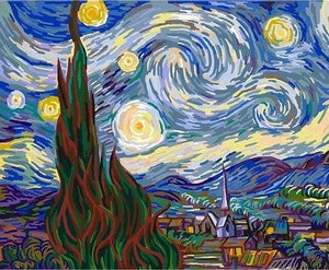 paint by numbers | Van Gogh Starry Night | advanced famous paintings van gogh | FiguredArt