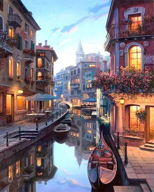 paint by numbers | Venice at Dusk | cities intermediate landscapes | FiguredArt
