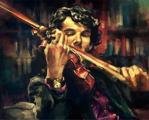 paint by numbers | Violinist | intermediate movies music new arrivals | FiguredArt