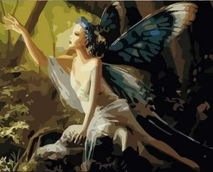 paint by numbers | Woman with Butterfly Wings | animals butterflies easy new arrivals portrait | FiguredArt