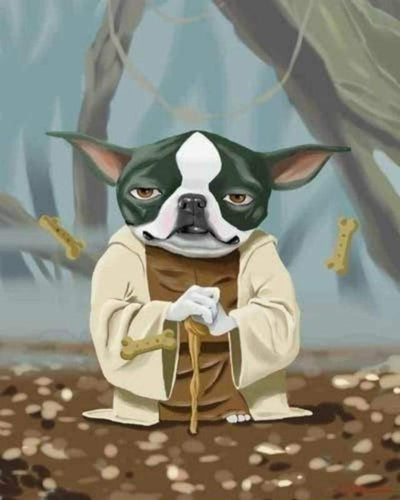 paint by numbers | Yoda Dog | animals dogs easy movies star wars | FiguredArt