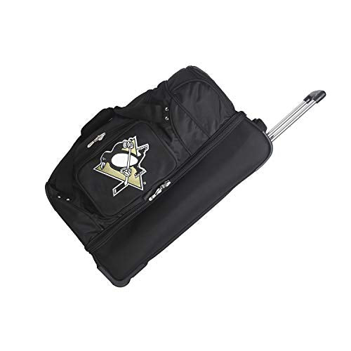 NHL Pittsburgh Penguins Rolling Drop-Bottom Duffel Bag, 27-inches