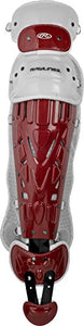 "Rawlings Sporting Goods Catchers Adult Velo Series Leg Guards, 16.5"", Cardinal/White"
