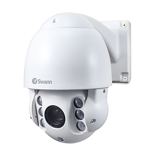 Swann Outdoor Security PTZ Camera 1080p, 10X Optical Zoom, Night Vision Distance 165ft, PRO-1080PTZ, White