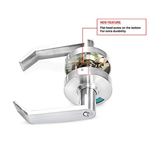 Indicator Privacy Lock & Lever with In-Use or Vacant Indicator Commercial Grade in Satin Chrome (26D).