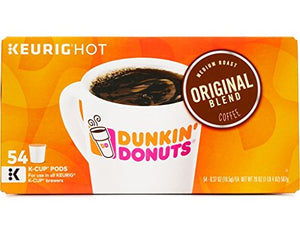 Dunkin Donuts Original Blend Pods K-Cup Pods, Pack Of Three (162 Count)