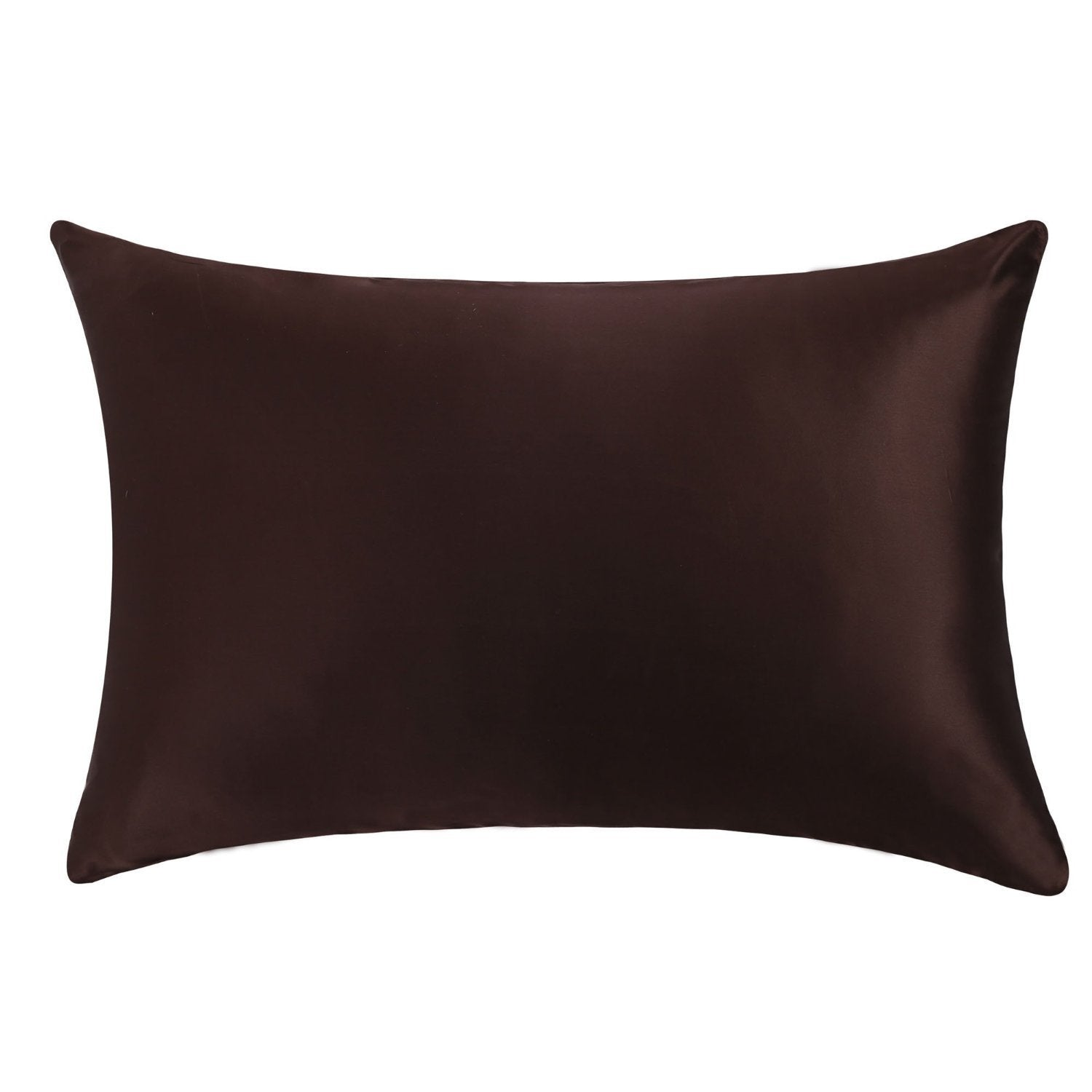 OOSilk 100% 22MM Luxury Mulberry Silk Pillowcase,Standard(20in x 26in),Chocolate,1 pc