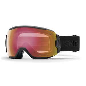 Smith Optics Mens Vice Goggles, Black / Black/Red Sensor Mirror - OS