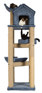 Molly and Friends MF-91-bl/b Deluxe Scratching Post Furniture, Blue/Beige