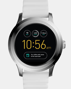 Fossil Q Founder Gen 2 White Silicone Touchscreen Smartwatch FTW2115