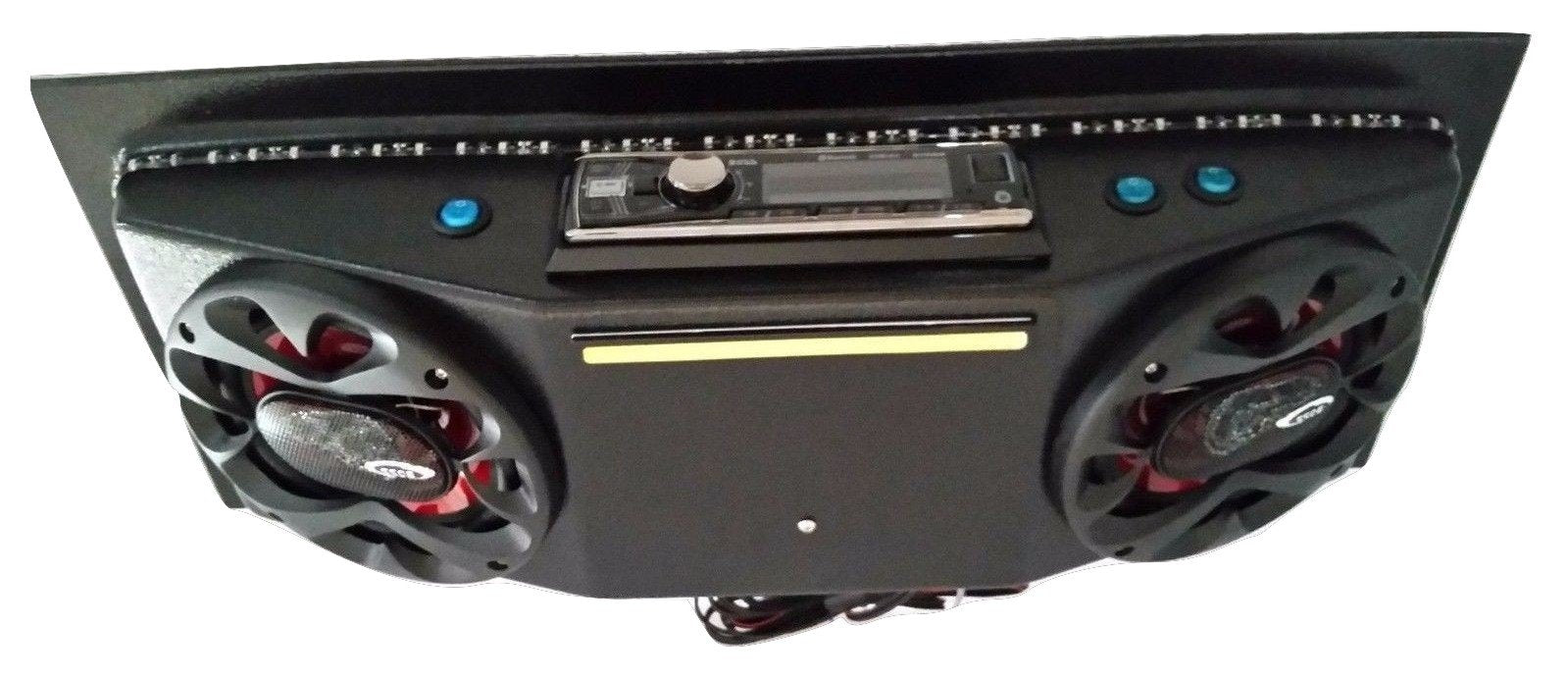 Custom Golf CART UTV Radio Overhead Stereo Console with Bluetooth