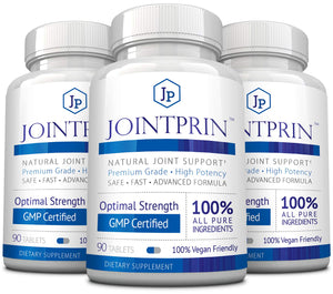 Jointprin - Relieve Joint Pain, Stiffness, Swelling and Discomfort - Glucosamine, MSM, Chonfroitin, Turmeric, Boswellia - 540 Vegan Friendly Capsules
