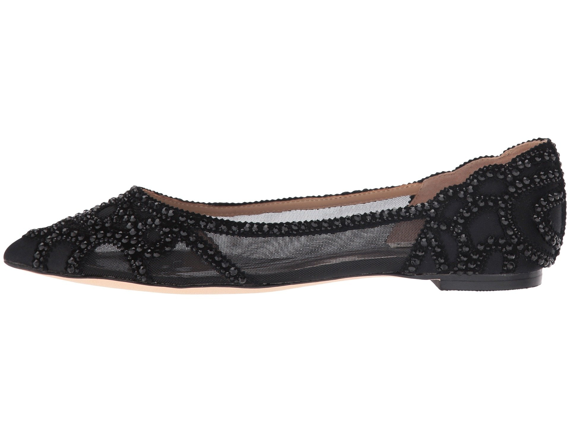 Badgley Mischka Women's Gigi Flats, Black, 5.5 B(M) US