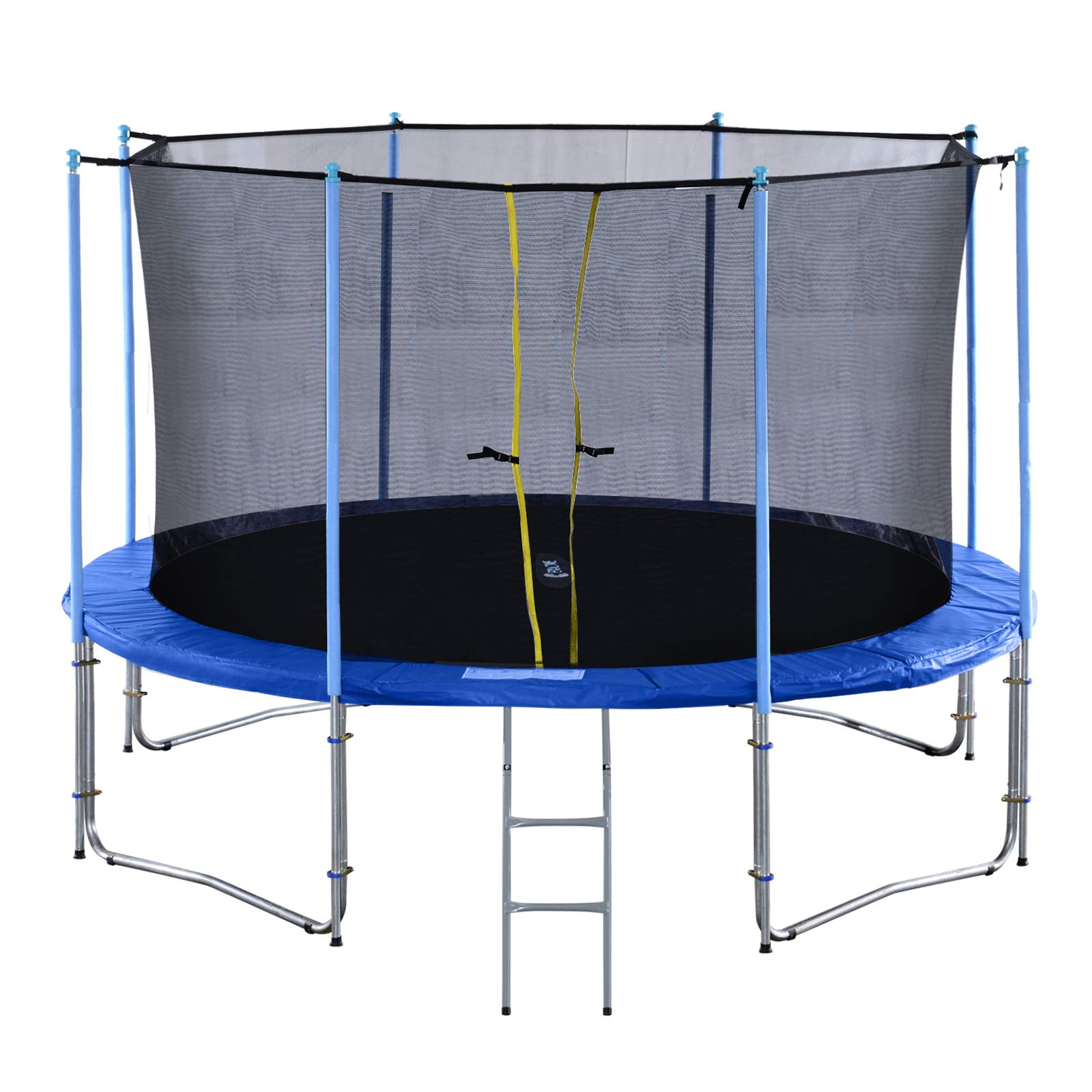 Exacme Outdoor Trampoline 16 15 14 12 10 Foot with Intra Enclosure Spring Cover Ladder, Heavy Duty, TUV Approved, 6181 C10-C16