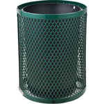 GLOBAL INDUSTRIAL Thermoplastic Coated Mesh Receptacle w/Flat Lid, 32 Gallon, Green
